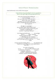 English Worksheet: �Downtown� Frank Sinatra song fill in