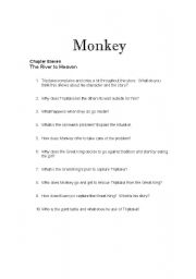English Worksheets: Monkey: Journey to the West Chapters 11