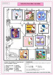 English Worksheet: Hello Kitty�s Photo Album -- My Hobbies