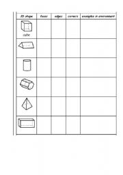 math worksheet : english teaching worksheets 3d shapes : 3d Shape Worksheets For Kindergarten