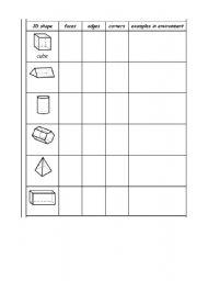 Printables 3d Worksheets english teaching worksheets 3d shapes shapes