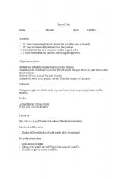 English Worksheets: Reading comprehension lesson