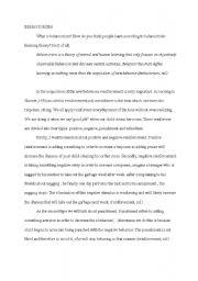 English Worksheets: behaviorism