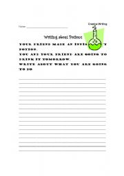 English Worksheets: Writing about potions