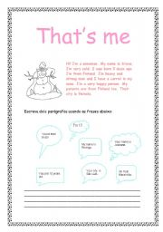 English Worksheets: That�s me