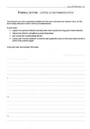 English Worksheets: Exam samples - Writing 2