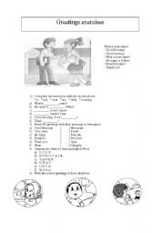 English worksheets greetings worksheets page 20 greetings exercises m4hsunfo