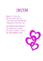 English Worksheets: MOM