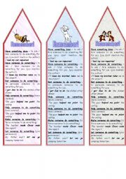 English Worksheet: HAVE - GET - HELP - MAKE - LET (BOOKMARKS)