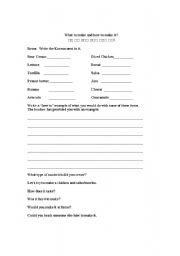 English Worksheets: What to make and how to make it?
