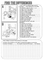 English Worksheets: FIND THE DIFFERENCES (3)