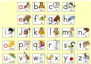 English Worksheets: Phonics Board