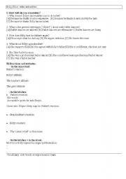 English Worksheet: billy elliot extract two