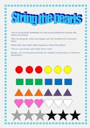 English Worksheets: String the pearls