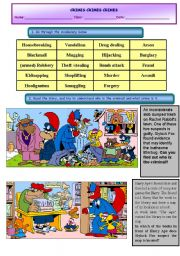 English Worksheets: Types of crimes