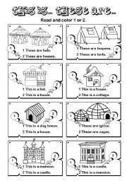 English Worksheets: This is... These are... series (6/7)