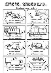 English Worksheets: This is... These are ... series (7/7)