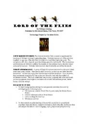 English Worksheet: Lord of the Flies Activity