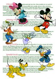 English Worksheet: Mickey mouse and his friends=)