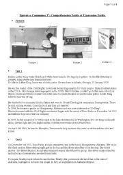 English Worksheet: Segregation Martin Luther King Rosa Parks