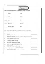 English worksheet: Pronoun - Part III