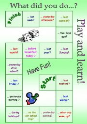 board game - past simple