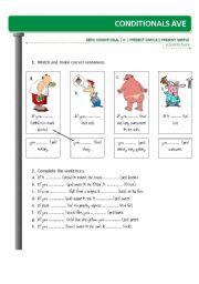 English Worksheet: ZERO CONDITIONAL worksheet