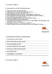 English Worksheets: To Sawyer: chapters 4 and 5