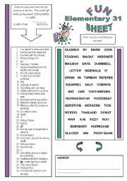 English Worksheets: Fun Sheet Elementary 31