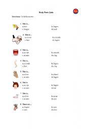 English Worksheets: body_quiz
