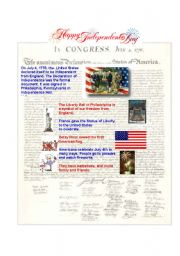 English Worksheet: Independence Day- July 4th