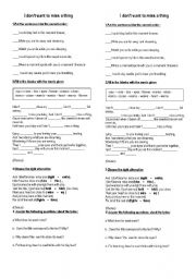 English Worksheet: Aerosmith, I don�t wanna miss a thing