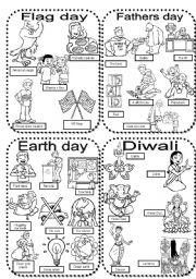 English teaching worksheets Diwali