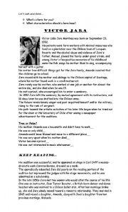 English Worksheets: Victor Jara: a Chilean hero