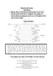 English Worksheet: Wish You Were Here
