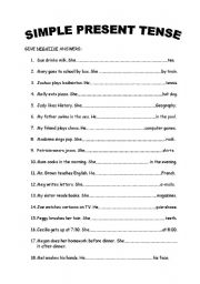 To be present simple exercises pdf