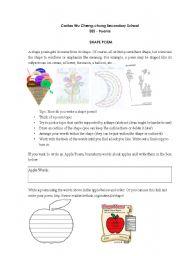 English Worksheet: How to write a shape poem