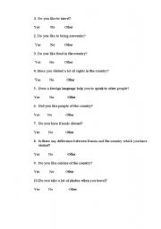 English Worksheets: asking for the information about your tour