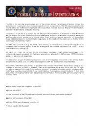 English Worksheets: F.B.I.