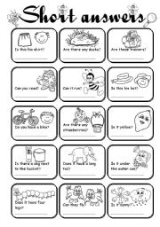 English Worksheets: Short answers 2