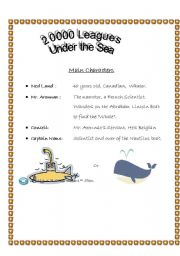 English worksheets: 20000 leagues under the sea