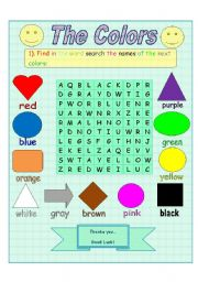 The colors (word search)