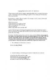 English Worksheets: Julius Caesar: Language Exploration