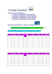 English Worksheet: to sing the boat