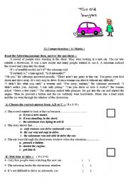 2 reading comprehension worksheets for intermediate level - ESL