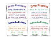 English Worksheets: Math Task Cards (2)