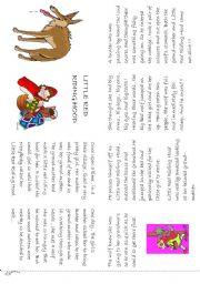 photograph regarding Little Red Riding Hood Story Printable identified as minor crimson driving hood mini reserve - ESL worksheet as a result of storyteller