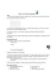 English Worksheets: Parts of a Great Presentation