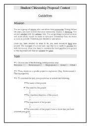 English Worksheet: Student Citizenship Proposal