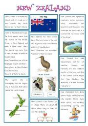 English Worksheet: ENGLISH_SPEAKING COUNTRY (4) - NEW ZEALAND